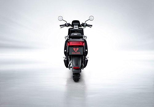 NIU N1S Elektroroller E-Scooter - Panasonic Li-Ion Akku - 80 km Reichweite - Bosch Motor - 45 km/h - Zweisitzer // angeboten von RollingBull® (schwarz) - 4
