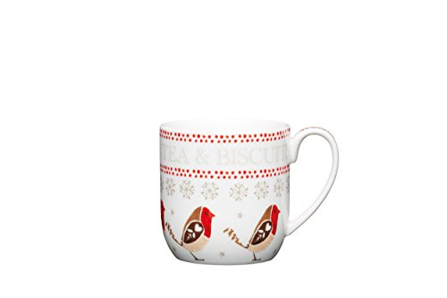 kitchencraft-little-red-robin-tea-biscuits-porcelain-christmas-mug-320-ml-05-pint-white