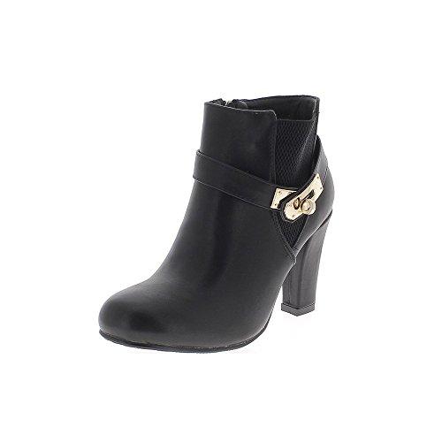 bottines-femme-noires-a-talon-de-9cm-aspect-cuir-lisse-brillant-38