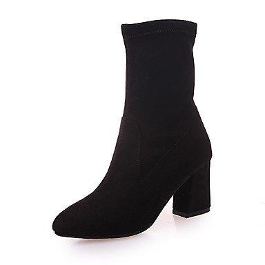 Rtry Femme Chaussures À Talons Formelles Suede Automne Casual Part & Amp; Robe De Soirée Chunky Chunky Noir Marcher 2a-2 3 / 4in Noir Us8 / Eu39 / Uk6 / Cn39 Us5.5 / Eu36 / Uk3.5 / Cn35