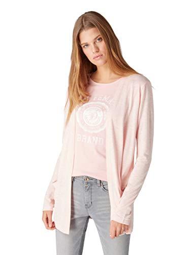 TOM TAILOR Denim für Frauen T-Shirts/Tops Jersey-Cardigan Blush pink Melange, M
