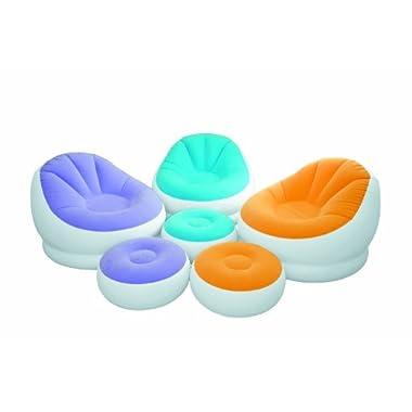 Intex Aufblasmöbel Loungen Sessel Cafe Chaise Chair, Mehrfarbig, 104 x 109 x 71 cm / Ø 64 x 28 cm(Sortierte Farbe)