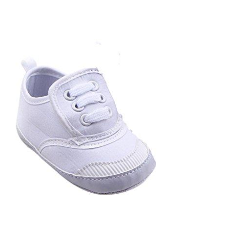 Tefamore Säugling Baby Junge Mädchen weichen Sohle Krippe Schuhe Sneaker Weiß