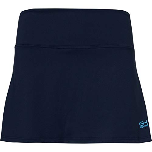 Sportkind Mädchen & Damen Tennis, Hockey, Golf Basic Rock mit Innenhose, Navy blau, Gr. L
