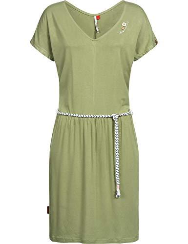Druck-knie-länge-kleid (Ragwear Damen Sommerkleid Jerseykleid Lasy Grün Gr. XL)