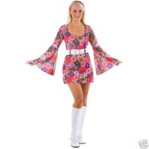 Retro Go Go Girl - Adult Costume Lady: L (UK:18-20)