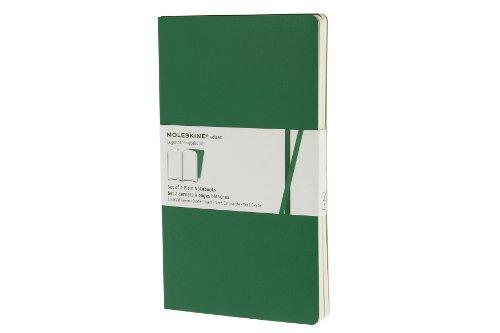 Moleskine Volant Notizhefte (blanko, Large, Weicher Einband) 2er-Set smaragdgrün/oxyd-grün (Moleskine 2er-set)