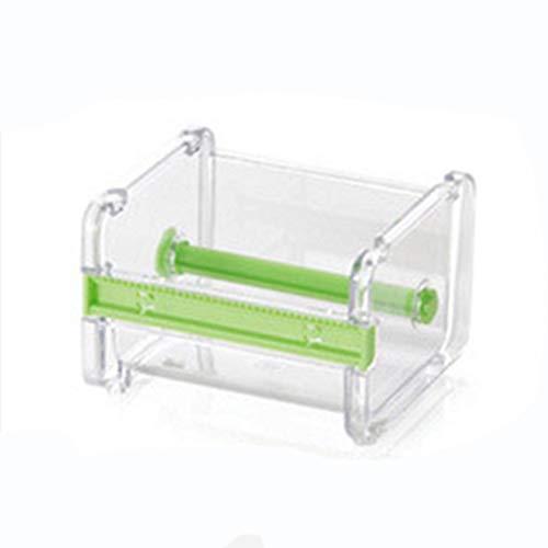 Büro Kunststoff Klebeband Spender Transparent Klebeband mit Band Schneider #0524 Beige - Grün ()