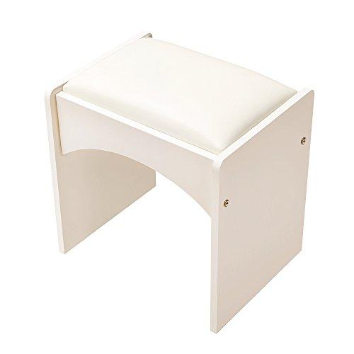 Back-stil Barhocker (weiju fmst2006einfach modernes Skandinavisches Style Book Stühle, Schlafzimmer Hocker, klein Wohnung einfach Mini Make-up Hocker weiß)