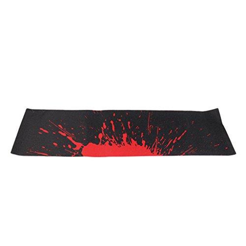SM SunniMix Wasserdicht Skateboard Schleifpapier Aufkleber Griptape, 84 x 23 cm - Schwarz und Rot (Longboard Grip Tape Rot)