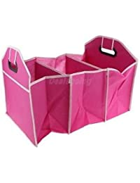 Alcoa Prime Car Trunk Organiser Collapsible Storage Holder Folding Travel Tidy Box Pink