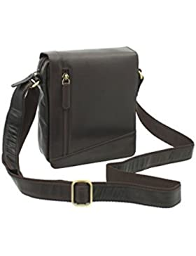 Visconti Leder Messenger-Tasche / Reisetasche, kompakt S7