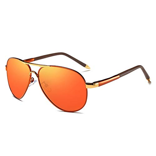 FORTINGBAR NEU Herren Vintage Classic Driver Polarisierte Sonnenbrille, Polarisierte Sonnenbrille UV400 (Farbe : Red)