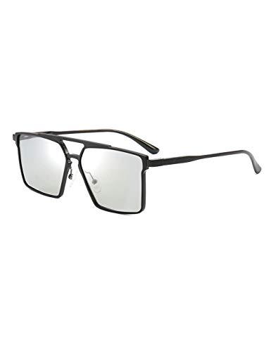 DPDH Sonnenbrillen Design Chameleon Sonnenbrillen Herren Polarisierte Quadratische Aluminium Magnesium Photochrome Retro Driver Männliche Sonnenbrilleblack photochromic