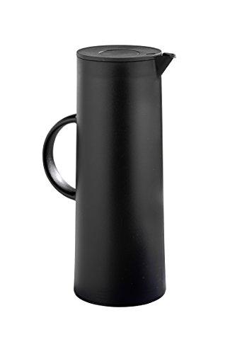 Esmeyer 305-085 Manhattan Isolierkanne, Inhalt 1 L, Kunststoff, schwarz, 11 x 11 x 29 cm
