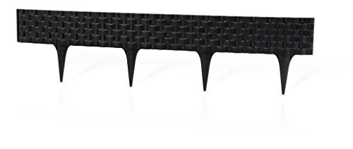 Rattan Palisade Rasenkante Raseneinfassung 2,4 mtr schwarz