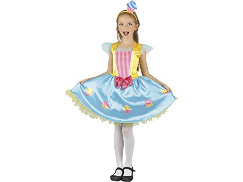 Mädchen Cupcake Kostüm Das - DISONIL Kostüm Cupcake-Königin Mädchen Größe XL