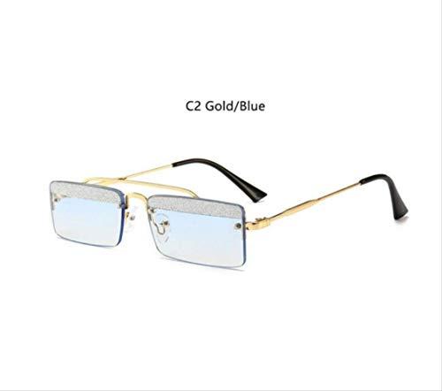 shengbuzailai Schwarze Glitzer Rechteck Sonnenbrille Vintage Retro Schmale Brille Niedlich Stil Designer Sonnenbrille Quadrat Männer Schattierungen A3