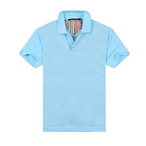MTTROLI Active T Shirts For Men Quick Dry Running Sports Polo Shirts Men Tech Tee (Water Blue, XL)