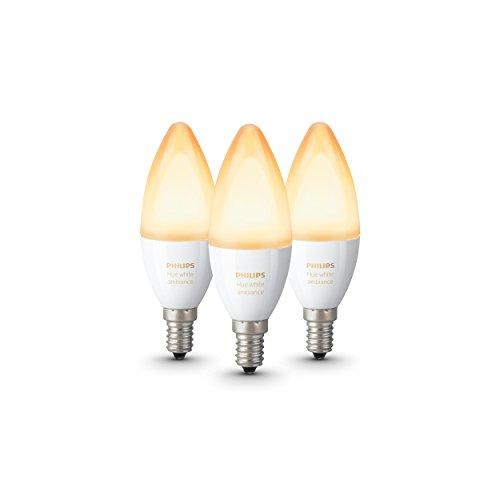 Philips Hue White Ambiance Lampadine LED, E14, Confezione da 2 Pezzi +...