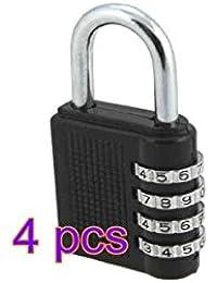 Cerradura de Combinación de 4 dígitos Combinaciones de 10000 para Exteriores o Interiores, Gimnasio,