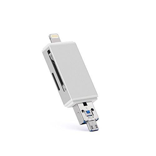 """Preisvergleich Produktbild """"e-makret"""" Karte Reader,-in Micro SD/TF/SD-Kartenleser für iPhone/iPad/Android/Mac/PC"""