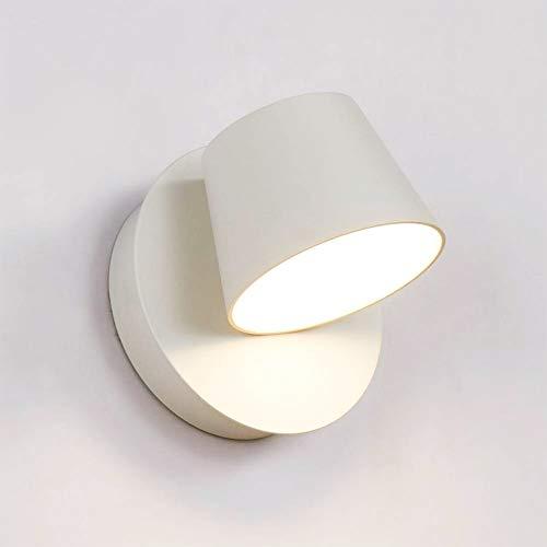BarcelonaLED Lampara de Pared Aplique Interior con Foco LED Giratorio y Orientable 6W Blanco Cálido...