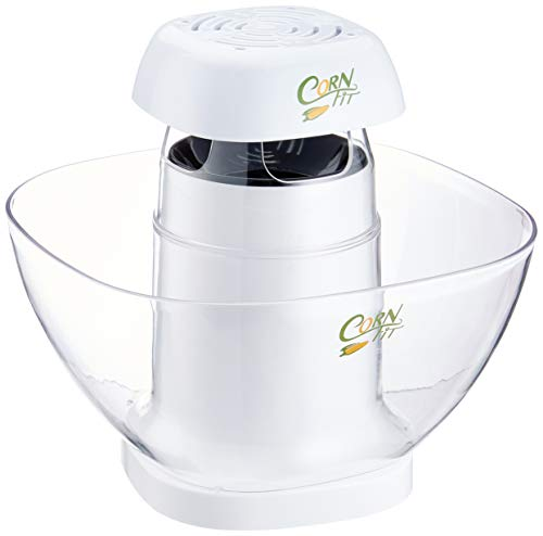 Cornfit PM 1160 Automatischer Heißluft Popcornmaker mit großer Abnehmbarer 4,5 Liter Schüssel, 4.5 liters, weiß