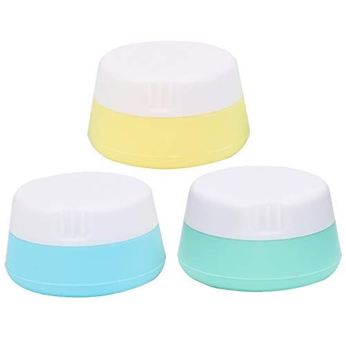 Dispensing Box Silikon Tourismus Dicht Creme Flasche Kosmetische Container Dichtungskappe Squeezable Kosmetik Box für Shampoo, Lotion, Conditioner 3 Packs für Frauen