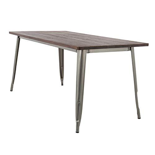 SKLUM Tisch LIX gebürstet Holz (120x60) - Stahl Gebürstet 72