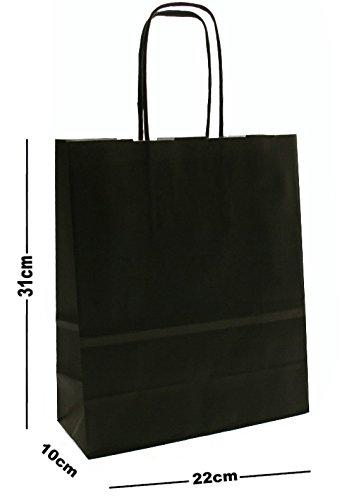 25-x-a4-paper-party-gift-bags-boutique-shop-loot-carrier-bag-choose-colour-black