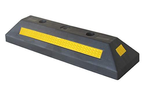PWS-32Bx1 Borne d'arrêt de stationnement en plastique pour parkings publics, commerciaux et parkings privés, couleur noire, dimensions 53 x 15 x 9,5 cm (pack de 1)