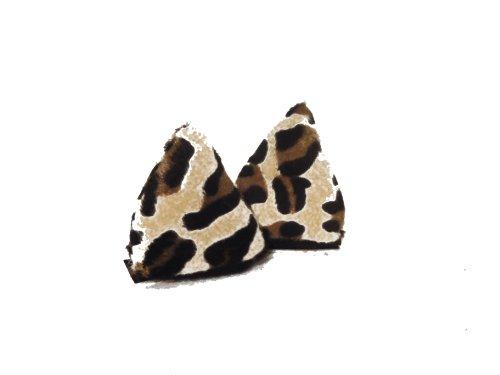 Preisvergleich Produktbild Leopard - Leo Helm - Ohren für den Skihelm und Snowboardhelm - Helmdeko Modell : Leopard