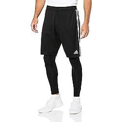 adidas Tiro 19 Two-in-One, Shorts Uomo, Black/White, M