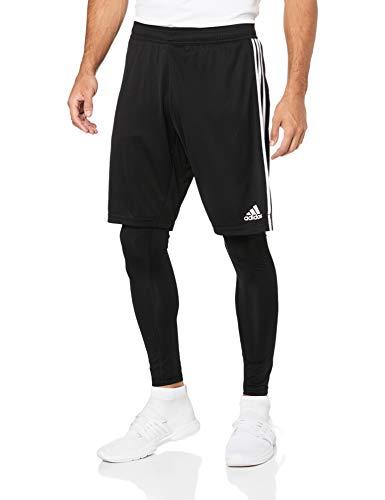 adidas Herren TIRO19 2in1 SHO Sport Trousers, Black/White, S