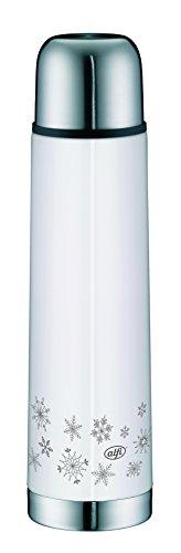 alfi Isolierflasche Eco Winter Edition 0, 75l, Edelstahl, Weiß, 8,2 x 8,2 x 29,3 cm