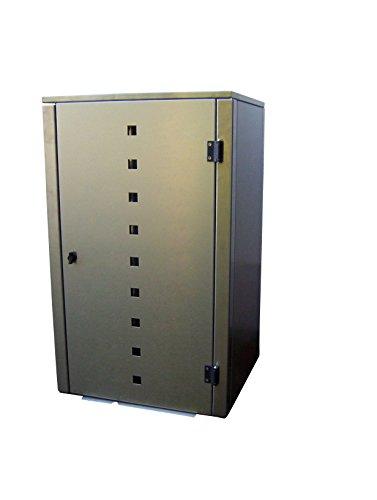 Mülltonnenbox Edelstahl, Modell Eleganza Quad7, 240 Liter als Zweierbox - 3