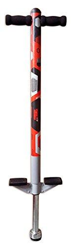 ThinkGizmos Pogo Stick für Kinder - für 5, 6, 7, 8, 9, 10 Jahre alt und älter bis zu 36 kg - Toller Hochwertiger Pogo Stick für Jungen und Mädchen, Spaß bereitet (Schwartz & Rot)