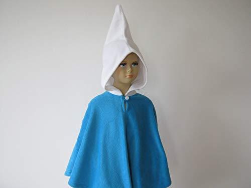 fasching karneval halloween kostüm cape für kleinkinder zwerg blau