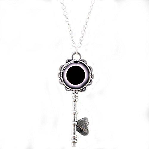 Solar Eclipse Schlüssel Halskette, Mond und Sonne Wissenschaft Schmuck, SCI FI Schlüssel Halskette - Eclipse Schlüssel