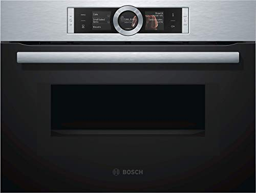 Bosch CMG636BS1 Serie 8 Einbau-Kompaktbackofen mit Mikrowellenfunktion / 45 L / Edelstahl / EcoClean Direct / TFT-Touchdisplay / Assist