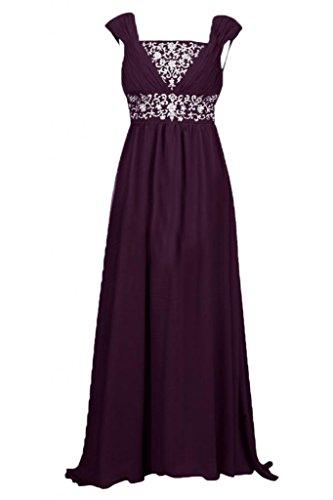 Sunvary senza spalline elegante Chiffon Prom ad alta/bassa discendente Pageant Gowns da donna Blu