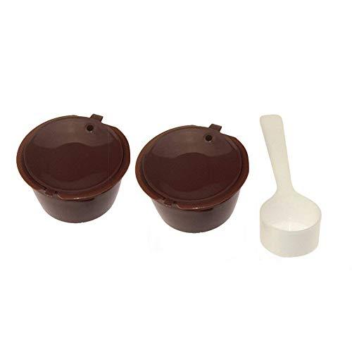 Isuper Filtro 2pcs Reutilizable Recargable cápsulas de café Taza de café Cubierta de la cápsula Circular el Filtro del Recipiente