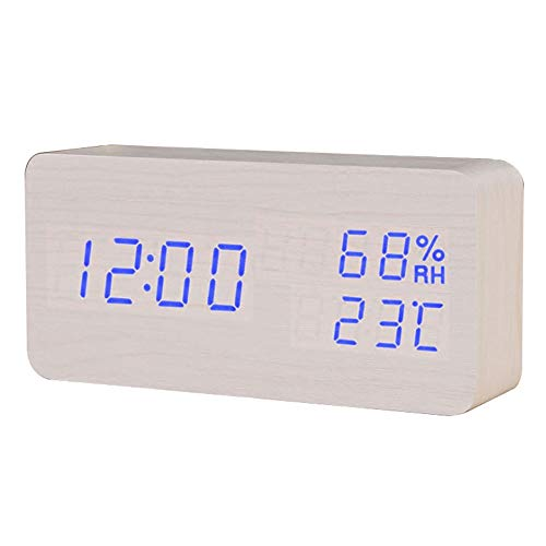 HJDQ Reloj Despertador Digital - 3 Niveles Brillo