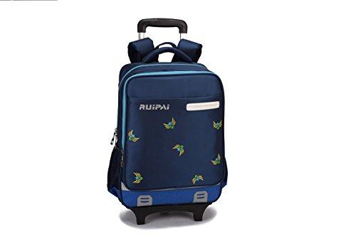 fd1fe2fab2 Zaino borsa trolley scuola viaggio computer tablet I bambini di rotolamento  Zaino