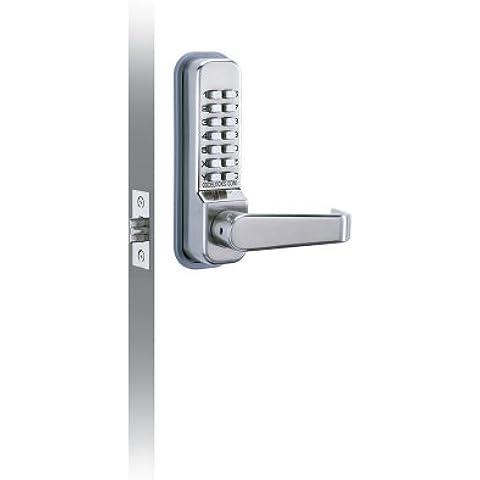 Codelocks - Serratura meccanica digitale, su mortasa con pulsanti, maniglia