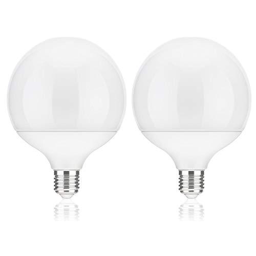 ledscom.de E27 LED Globe Leuchtmittel Globeform (12cm Kopfdurchmesser) 17W =104W 1400lm 230° weiß (4100K), 2 STK.