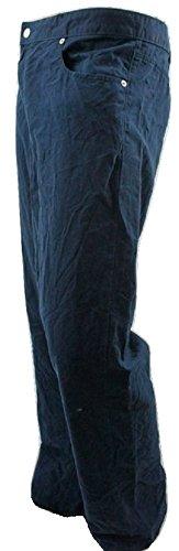 Cotone Casual Chino Pantaloni Blue 2XL