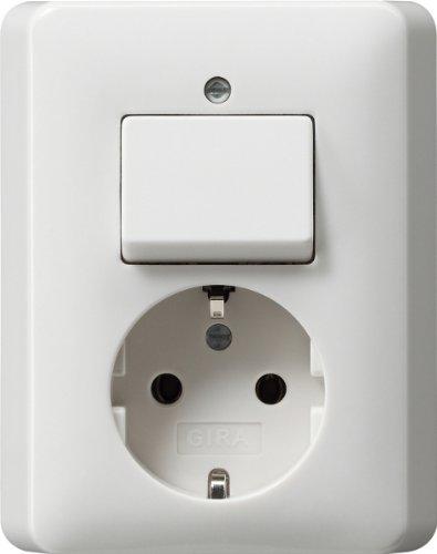 Preisvergleich Produktbild Gira 017603 Wippschalter/Steckdose volle Platte Reinweiß glänzend