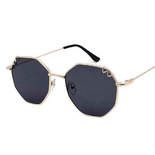 WFF Retro unregelmäßige Brille, Rahmen Rahmen, Japanisches weiches Mädchen Suyan Pingguang, Mode Dame Sonnenbrillen,1,cm